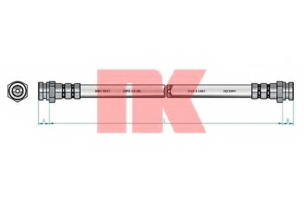 Тормозной шланг NK 853250 - изображение 1