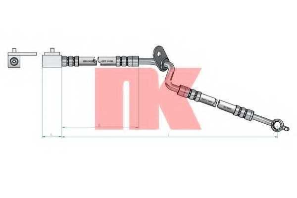 Тормозной шланг NK 853257 - изображение