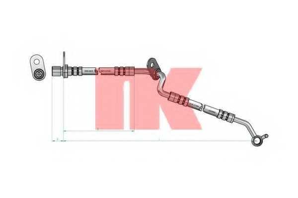 Тормозной шланг NK 853264 - изображение 1