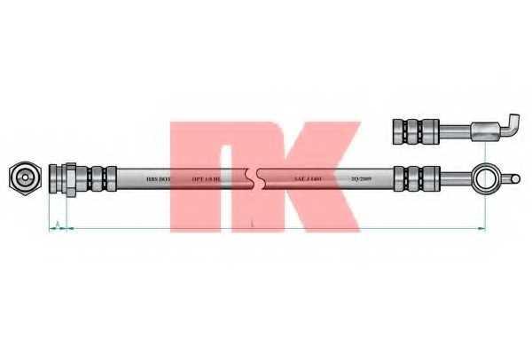 Тормозной шланг NK 853265 - изображение