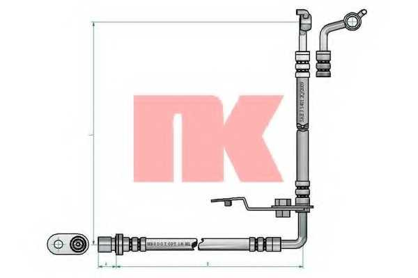 Тормозной шланг NK 853275 - изображение