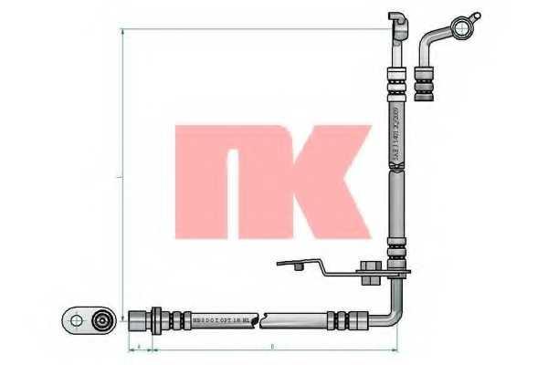 Тормозной шланг NK 853276 - изображение