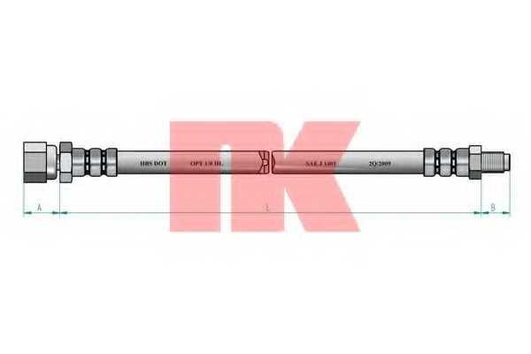 Тормозной шланг NK 853324 - изображение