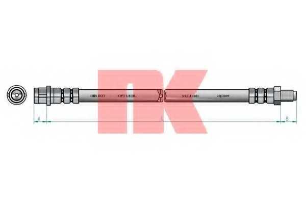 Тормозной шланг NK 853325 - изображение