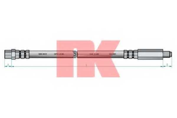 Тормозной шланг NK 853326 - изображение