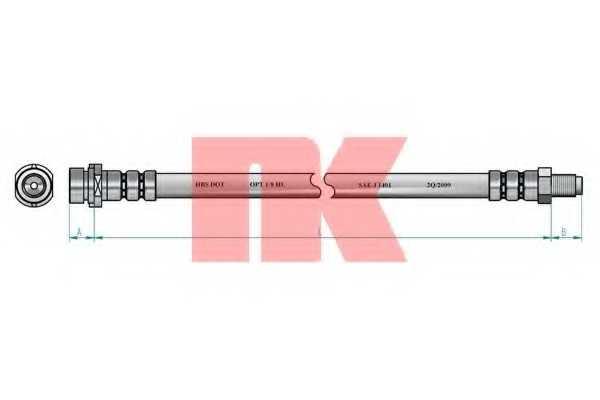 Тормозной шланг NK 853327 - изображение
