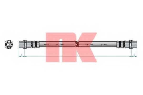 Тормозной шланг NK 853329 - изображение