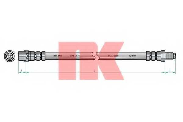 Тормозной шланг NK 853330 - изображение 1