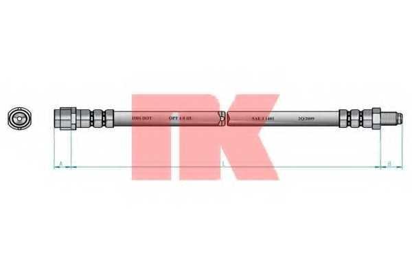 Тормозной шланг NK 853335 - изображение