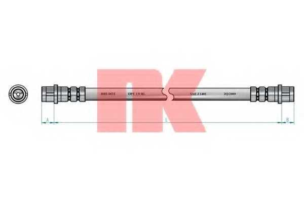 Тормозной шланг NK 853344 - изображение 1
