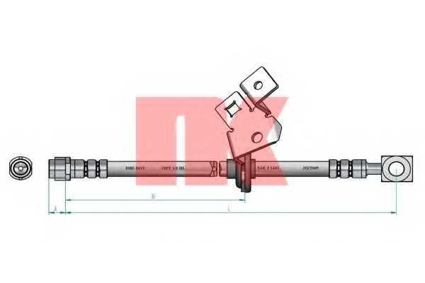 Тормозной шланг NK 853347 - изображение