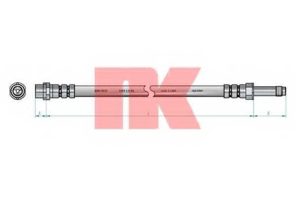 Тормозной шланг NK 853350 - изображение 1