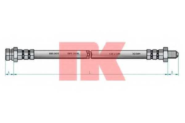 Тормозной шланг NK 853419 - изображение 1