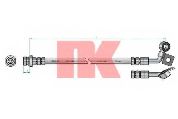 Тормозной шланг NK 853422 - изображение 1