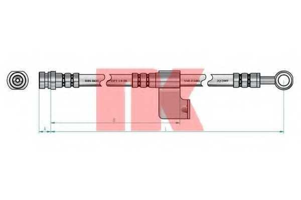 Тормозной шланг NK 853434 - изображение 1