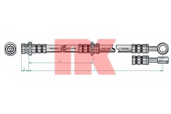 Тормозной шланг NK 853439 - изображение