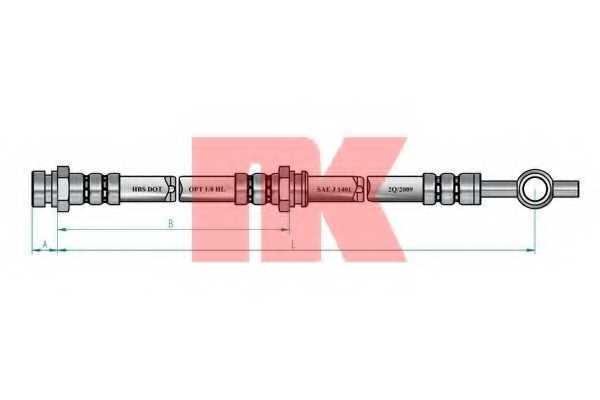 Тормозной шланг NK 853441 - изображение 1