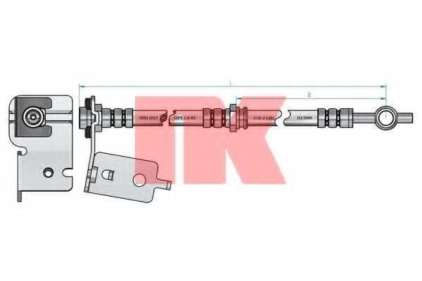 Тормозной шланг NK 853442 - изображение