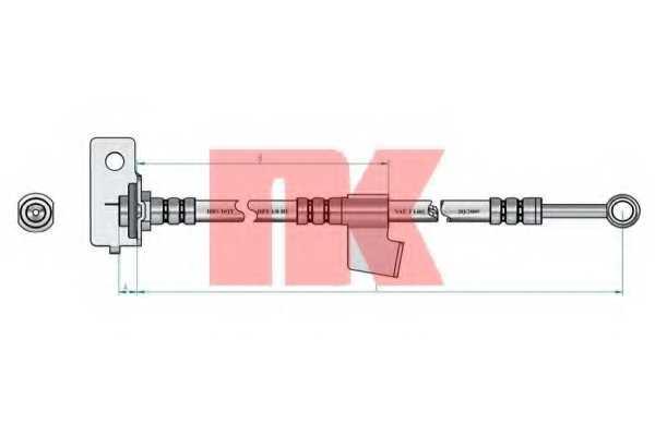 Тормозной шланг NK 853443 - изображение 1