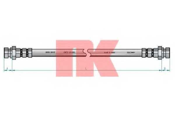 Тормозной шланг NK 853445 - изображение