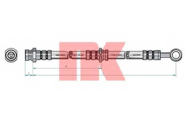 Тормозной шланг NK 853459 - изображение