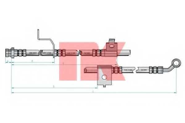 Тормозной шланг NK 853462 - изображение