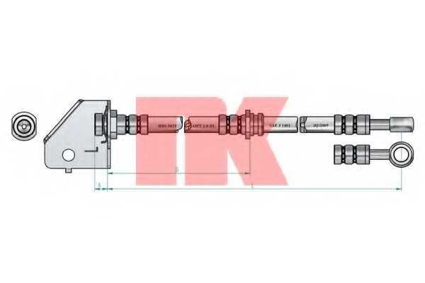 Тормозной шланг NK 853476 - изображение