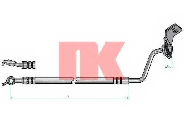Тормозной шланг NK 853486 - изображение