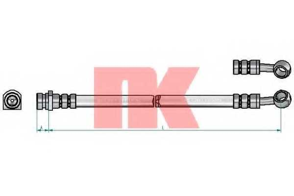 Тормозной шланг NK 853493 - изображение