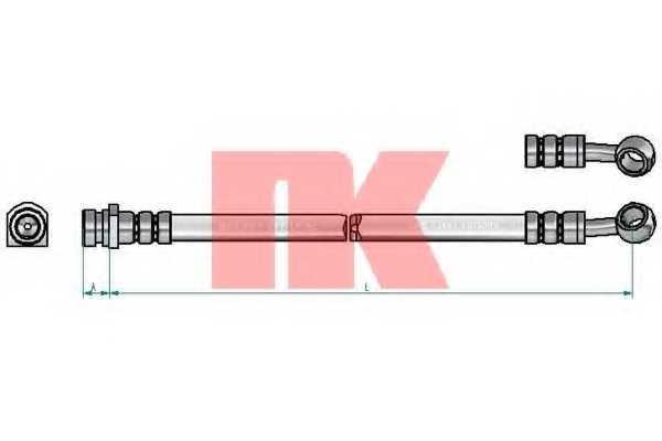 Тормозной шланг NK 853494 - изображение