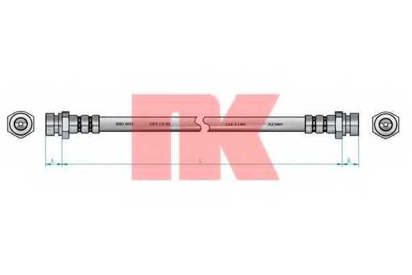 Тормозной шланг NK 853508 - изображение 1
