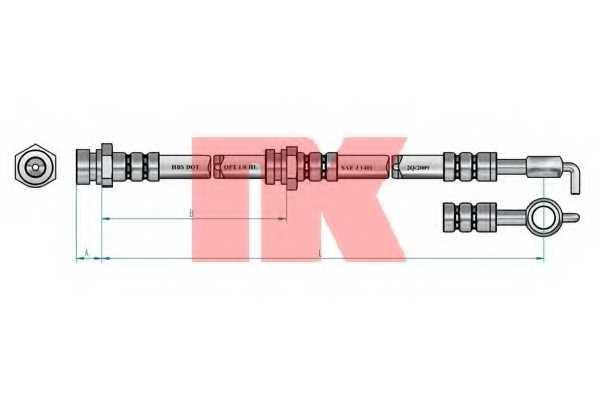 Тормозной шланг NK 853509 - изображение 1