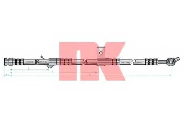 Тормозной шланг NK 853510 - изображение
