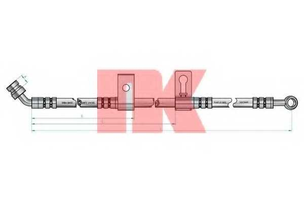 Тормозной шланг NK 853511 - изображение