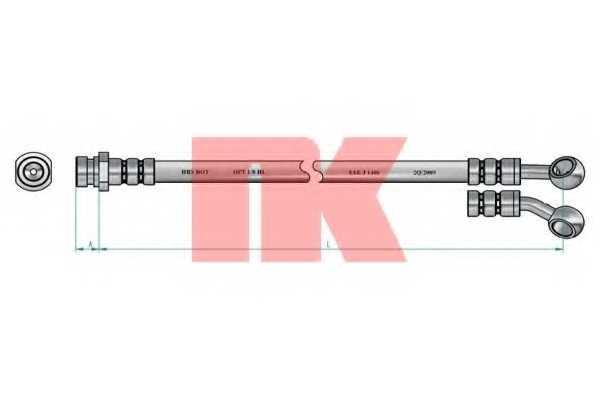 Тормозной шланг NK 853512 - изображение