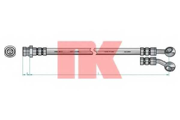 Тормозной шланг NK 853513 - изображение