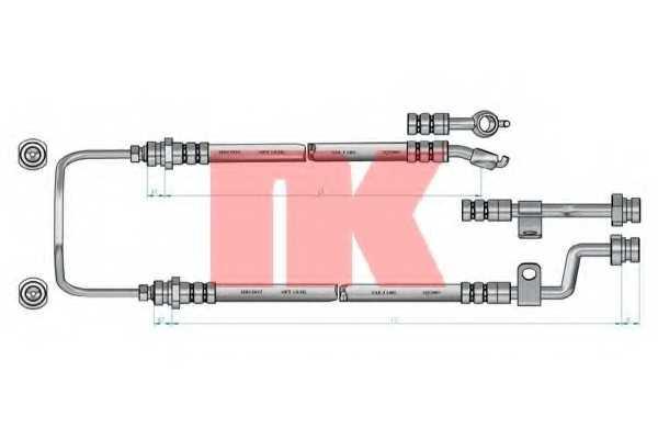 Тормозной шланг NK 853514 - изображение