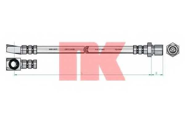 Тормозной шланг NK 853633 - изображение 1