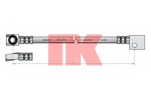 Тормозной шланг NK 853635 - изображение