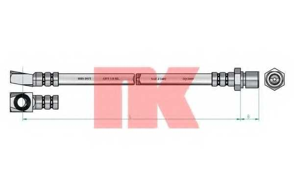Тормозной шланг NK 853637 - изображение