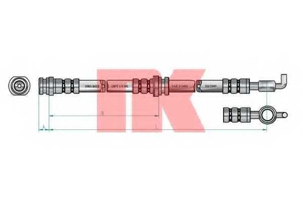 Тормозной шланг NK 853639 - изображение 1