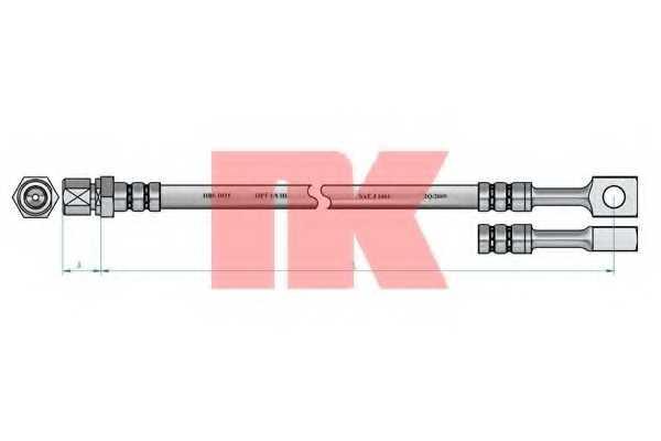 Тормозной шланг NK 853647 - изображение