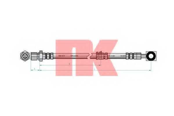 Тормозной шланг NK 853650 - изображение 1