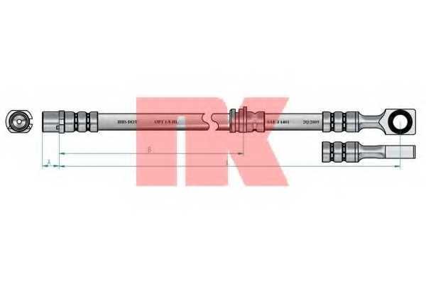 Тормозной шланг NK 853651 - изображение