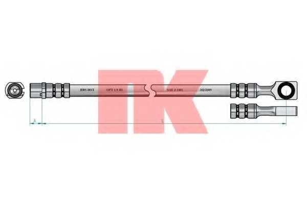 Тормозной шланг NK 853653 - изображение 1