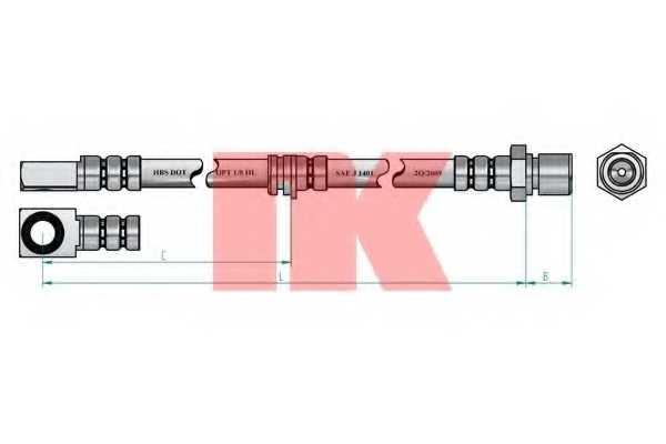 Тормозной шланг NK 853654 - изображение 1