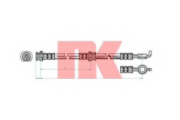 Тормозной шланг NK 853662 - изображение
