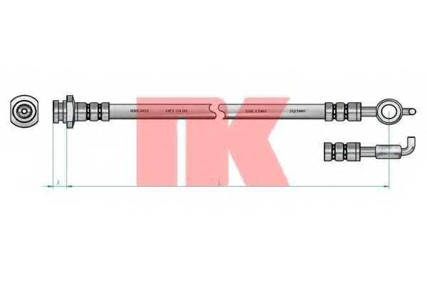 Тормозной шланг NK 853663 - изображение 1