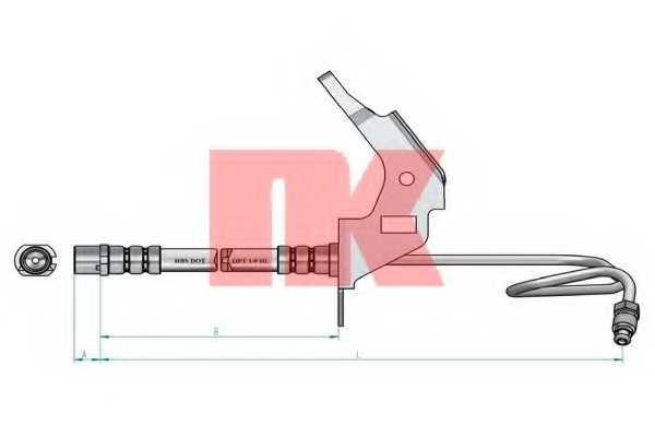 Тормозной шланг NK 853666 - изображение