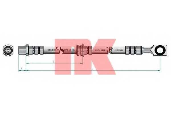 Тормозной шланг NK 853672 - изображение